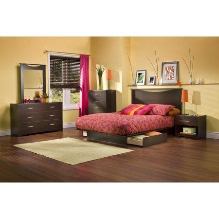 Back Bay Full/Queen Platform 6 Piece Bedroom Set