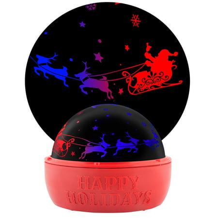 Christmas Lightshow Projection Tabletop ShadowLights Santa with Sleigh (Color Changing) Santas Magical Sleigh