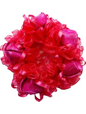 Wenchoice Girl's Hot Pink Rose Bun Cover One Size