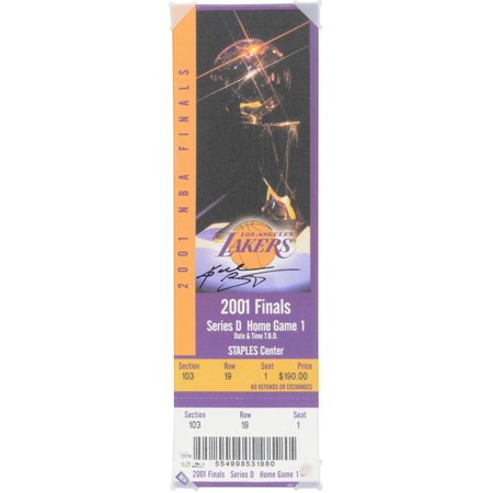 Kobe Bryant Los Angeles Lakers Autographed Oversized Canvas Ticket from 2001 NBA Finals - Panini Authentic - Fanatics Authentic Certified