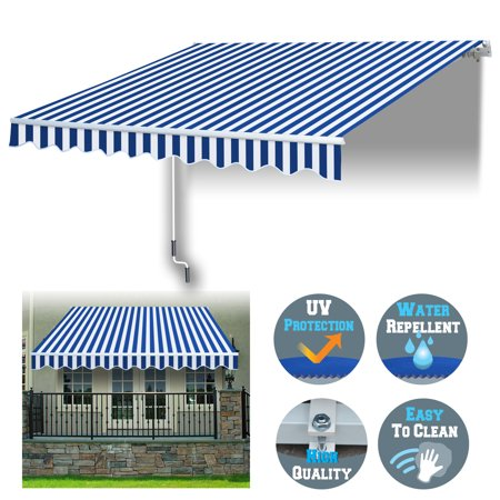 Sunrise 8' x 6.6' Manual Retractable Patio Deck Awning ...