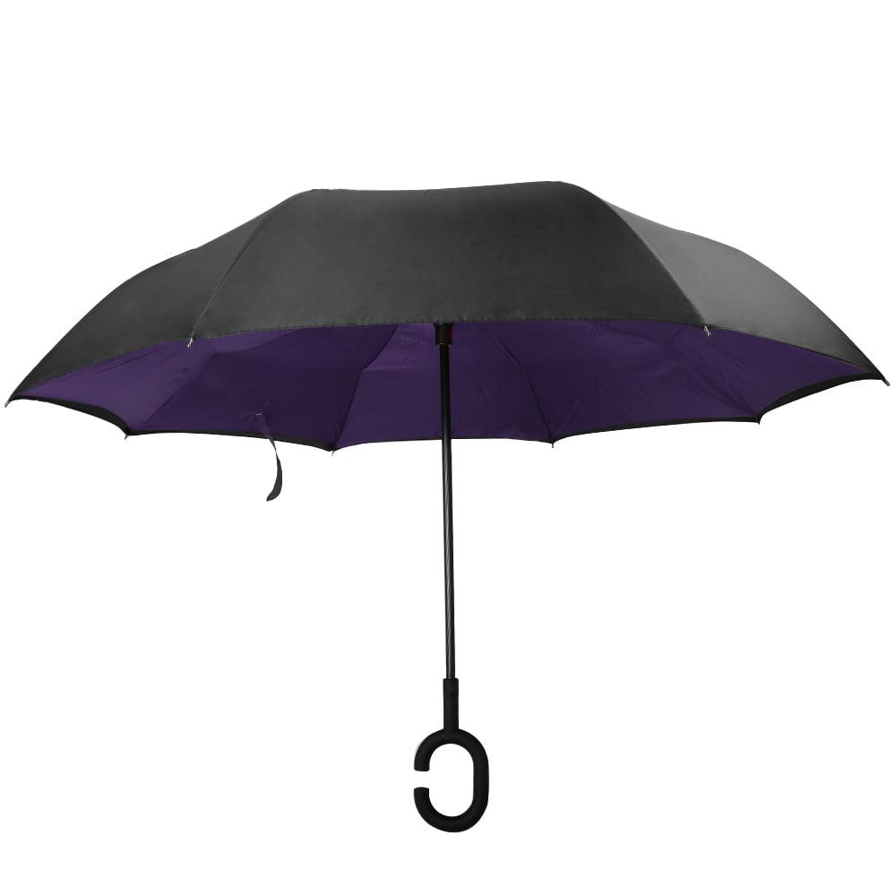 Image of AERUSI 48â Adult Sized Double Layer Reverse Long Umbrella