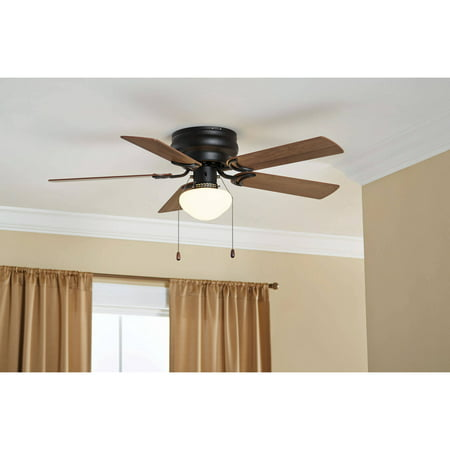 "42"" Mainstays Hugger Ceiling Fan with Globe, Bronze"