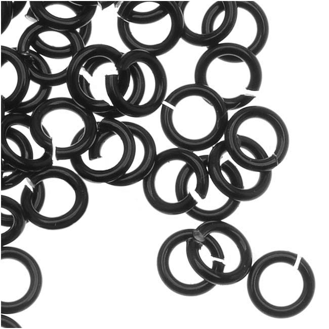 Artistic Wire, Chain Maille Jump Rings, 20 Ga / ID 2.78mm / 220pc, Black Color