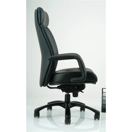Nightingale Manno Ergonomic Executive High Back Chair Black Leather Burgundy