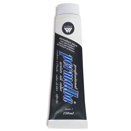 Weber Permalba Artists Oil Color - Permalba Black, 150 ml tube
