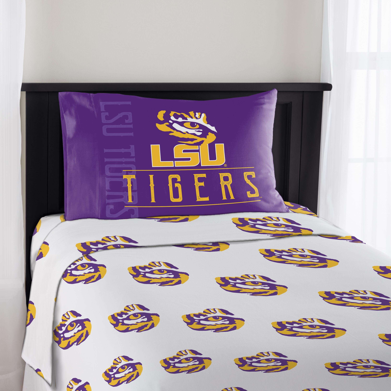 NCAA LSU Tigers Affiliation Twin Sheet Set, 1 Each