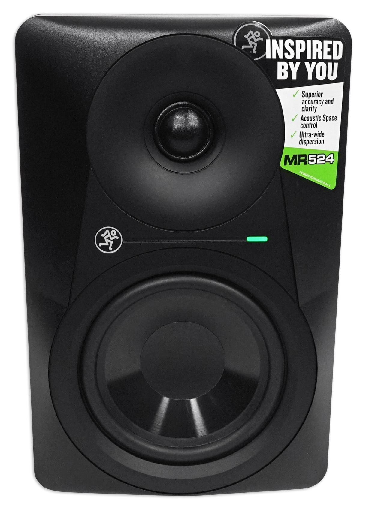 (2) Mackie MR524 5� 100 Watt Powered Active Studio Monitors+Stands+Pads by Mackie