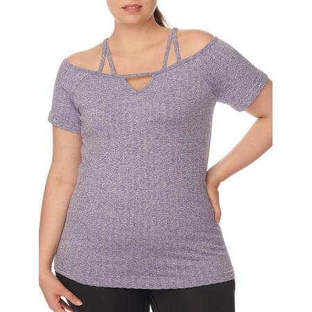 07f7e4ff879d7 Under Control - Under Control Women s Plus Size Strappy Off-the-Shoulder Top  - Walmart.com