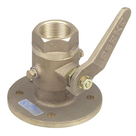 """The Amazing Quality """"Perko 1-1/4"""""""" Seacock Ball Valve Bronze MADE IN THE USA"""""""
