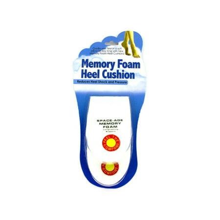 Memory Foam Heel Cushions Set In White Set Of 24