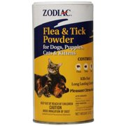 Zodiac Flea ; Tick Powder for Dogs, Puppies, Cats, and Kittens,