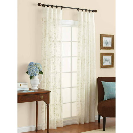 Better homes and gardens embroidered sheer curtain panel Better homes and gardens curtains