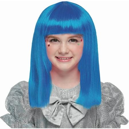 Beautiful Blue Wig Halloween Costume Accessory