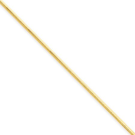1.2mm, 14k Yellow Gold, Octagonal Snake Chain Necklace, 18 Inch
