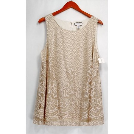 Charter Club Plus Size Top 2X Lace Overlay Shell Vintage Cream Ivory
