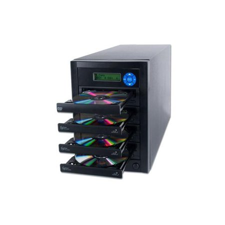 CopyPal 1 to 3 CD DVD Multiple Disc Copier Duplicator (Standalone Audio & Video Optical Media Disc Backup System) with Select Source Button (One Button Backup)