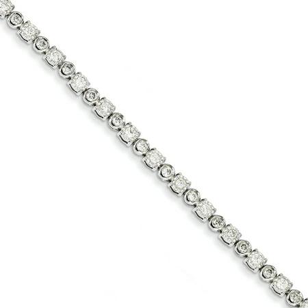 14K White Gold Diamond Bracelet - image 2 of 2