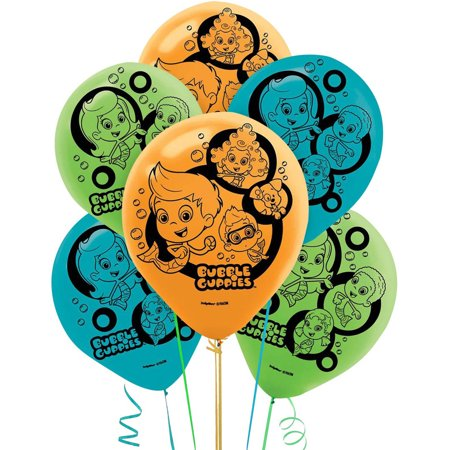 Bubble Guppies Latex Balloons, 6pk - Bubble Guppies Party Decor