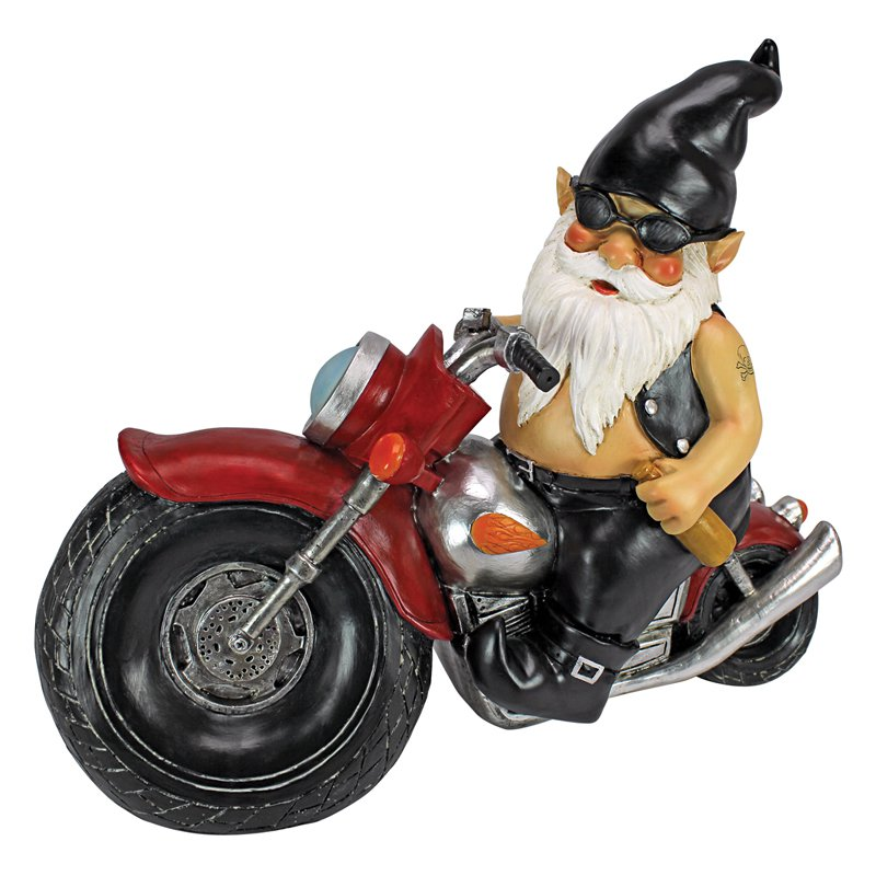 Design Toscano Axle Grease the Biker Gnome Statue by Design Toscano
