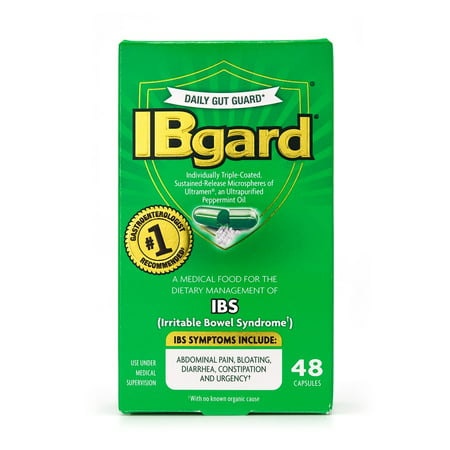 (2 pack) IBGard, Medical Food for Irritable Bowel Syndrome (IBS), 48 (Best Meds For Ibs)