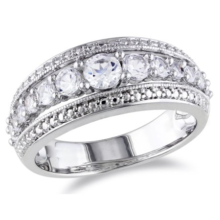 1 1/8 Carat (ctw) Lab Created White Sapphire Graduated Ring in Sterling Silver - image 4 de 4