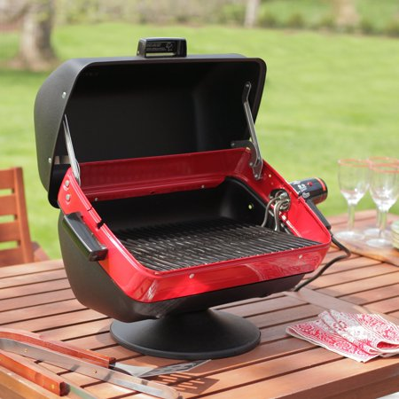 Easy Meals Grill (Meco Easy Street Deluxe Table Top 1500-watt Apartment, Condo, RV, Backyard, Electric Outdoor BBQ Grill with 3-Position Element for Sear, Warm, and Even Heat)