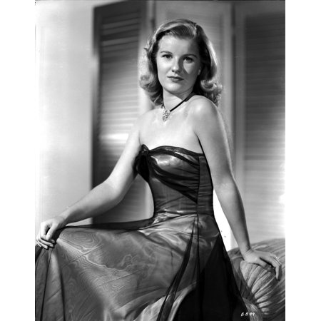 Barbara Bel-Geddes on a Silk Tube Dress sitting Photo Print