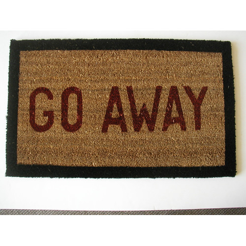 Geo Crafts, Inc Go Away Doormat
