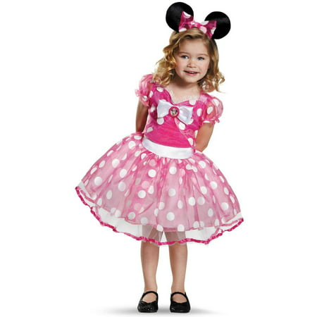 Pink Minnie Mouse Deluxe Tutu Toddler Halloween Costume, 3T-4T (Pink Minnie Mouse Halloween Costume)