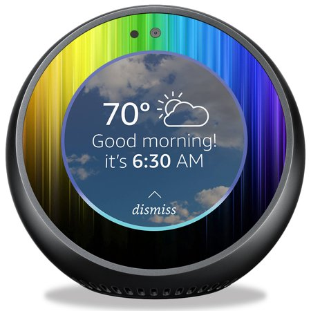 Skin For Amazon Echo Spot   Rainbow Streaks  Mightyskins Protective  Durable  And Unique Vinyl Decal Wrap Cover   Easy To Apply  Remove  And Change Styles   Made In The Usa