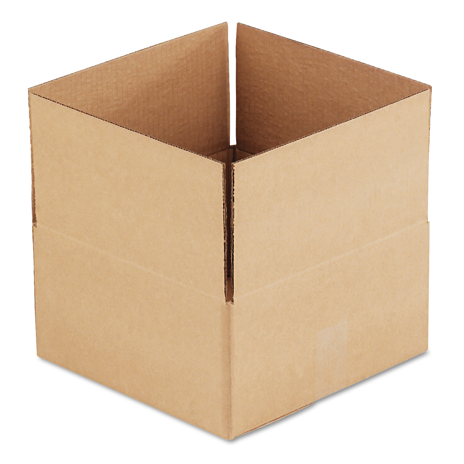 General Supply Brown Corrugated - Fixed-Depth Shipping Boxes, 12l x 12w x 6h, 25/Bundle -UFS12126