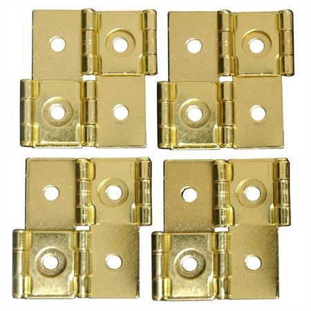 Oriental Furniture Shoji Screen Hinges in Gold (Set of 4) ()