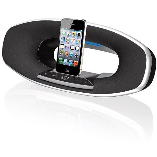 iLive ISD582B Speaker Dock for iPhone/iPod/iPad, Black