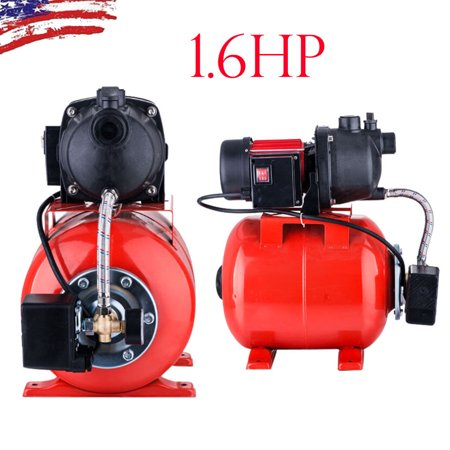 Ktaxon 1.6 HP Electric Water Pressure Booster Pump, 1200w 3500L/H Shallow Well Garden Pump, for Domestic Home Garden