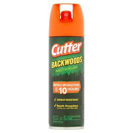 Cutter Backwoods Insect Repellent, Aerosol Spray, 6-oz