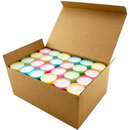 Stonebriar Collection Multicolor Tea Light Candles, 6 To 7 Hour Extended Burn Time, 96 Pack - Fall Tealight Candles