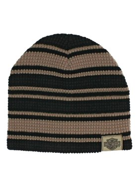 374609ae0ef41 Product Image Harley-Davidson Men s Striped H-D Embroidered Knit Beanie Hat  Black