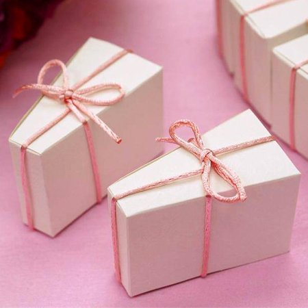 Efavormart Cake Slice Favor Box-100pc - Cake Favor Boxes