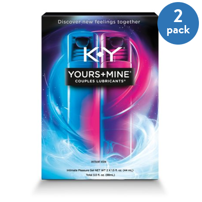 (2 Pack) K-Y Yours and Mine Couples Hybrid Lubricants - 3 oz