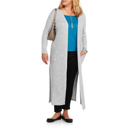 Concepts Women's Plus Long Soft Cardigan Sweater - Walmart.com