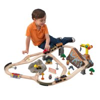 KidKraft Bucket Top Construction Wooden Train Set with 61 accessories included