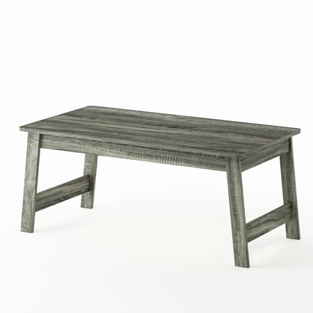 Metal Oak Coffee Table - Furinno Beginning Coffee Table, French Oak Grey 18040GYW