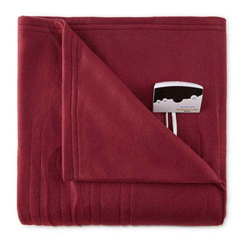Biddeford Blankets Comfort Knit Fleece Electric Heated Blanket