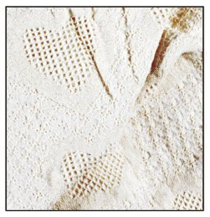 Simply Home Honeycomb Heart Mid-Size 2 Layer Throw - Natural (208-03)