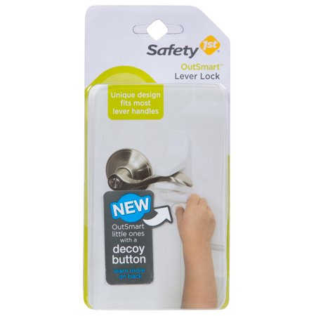 Safety 1st Safe (Safety 1st OutSmart Lever Lock With Decoy Button, White )