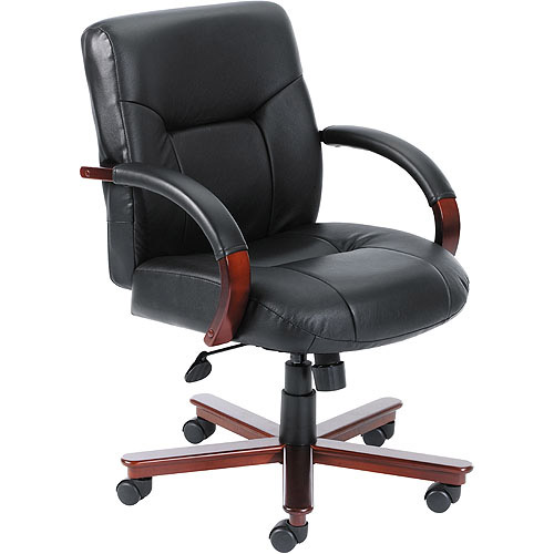 Boss Executive  Leather Mid Back Chair