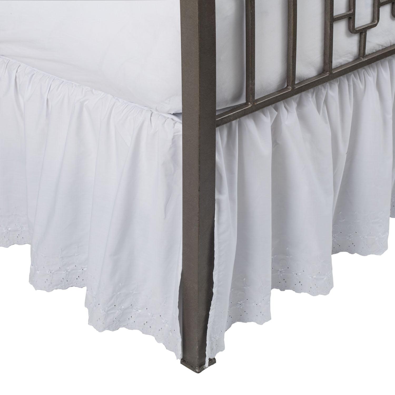 Eyelet Ruffled Bed Skirt With Split Corners Walmartcom