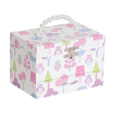 Mele Designs Molly Girls' Musical Ballerina Jewelry Box, Owl Pattern - Little Girls Jewelry Boxes