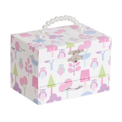 Mele Designs Molly Girls' Musical Ballerina Jewelry Box, Owl Pattern